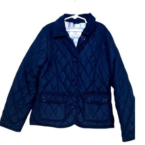 GAP navy quilted winter coat girls large s…